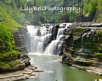 Instant Download Landscape Photography Letchworth Upper Falls Waterfall