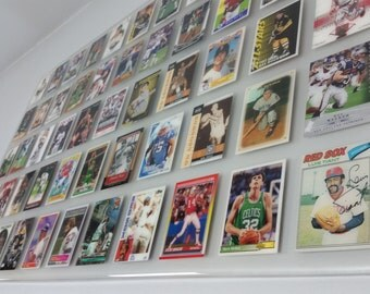 Custom Sports Cards Display Frosted Opaque High Gloss Epoxy Finish Man Cave Custom Frame Wall Decor Baseball Football Basketball Hockey