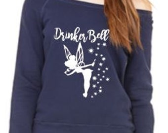 Drinker Bell Off the Shoulder Sweatshirt