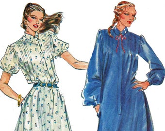 Western Prairie Dress Pattern Ruffled Hem Dress Pattern Vintage 1980s Sewing Pattern Butterick 6974 Size 12 Bust 34