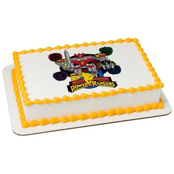 Power Rangers Edible Cake or Cupcake Toppers Choose Your