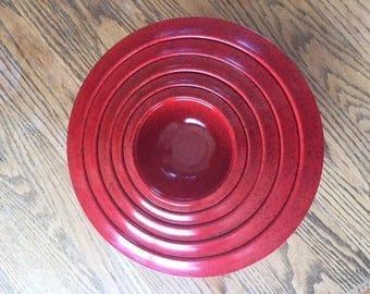 Vintage Melamine Nesting Bowls