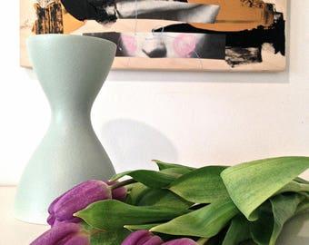 Mid Century modern vase Scandinavian modern minimalist vase Robins egg blue vase Ceramic vase Pottery vase Flower vase Mothers Day gift
