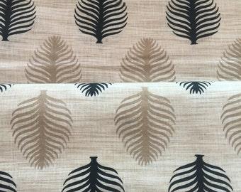 Beige Handloom Khadi Cotton Fabric 20%SALE,Block Print Cotton Floral Print,Dress Fabric,Indian fabric By Yard,khadi Cotton