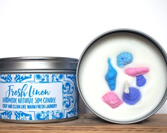 Fresh Linen Natural Soy Wax Candle
