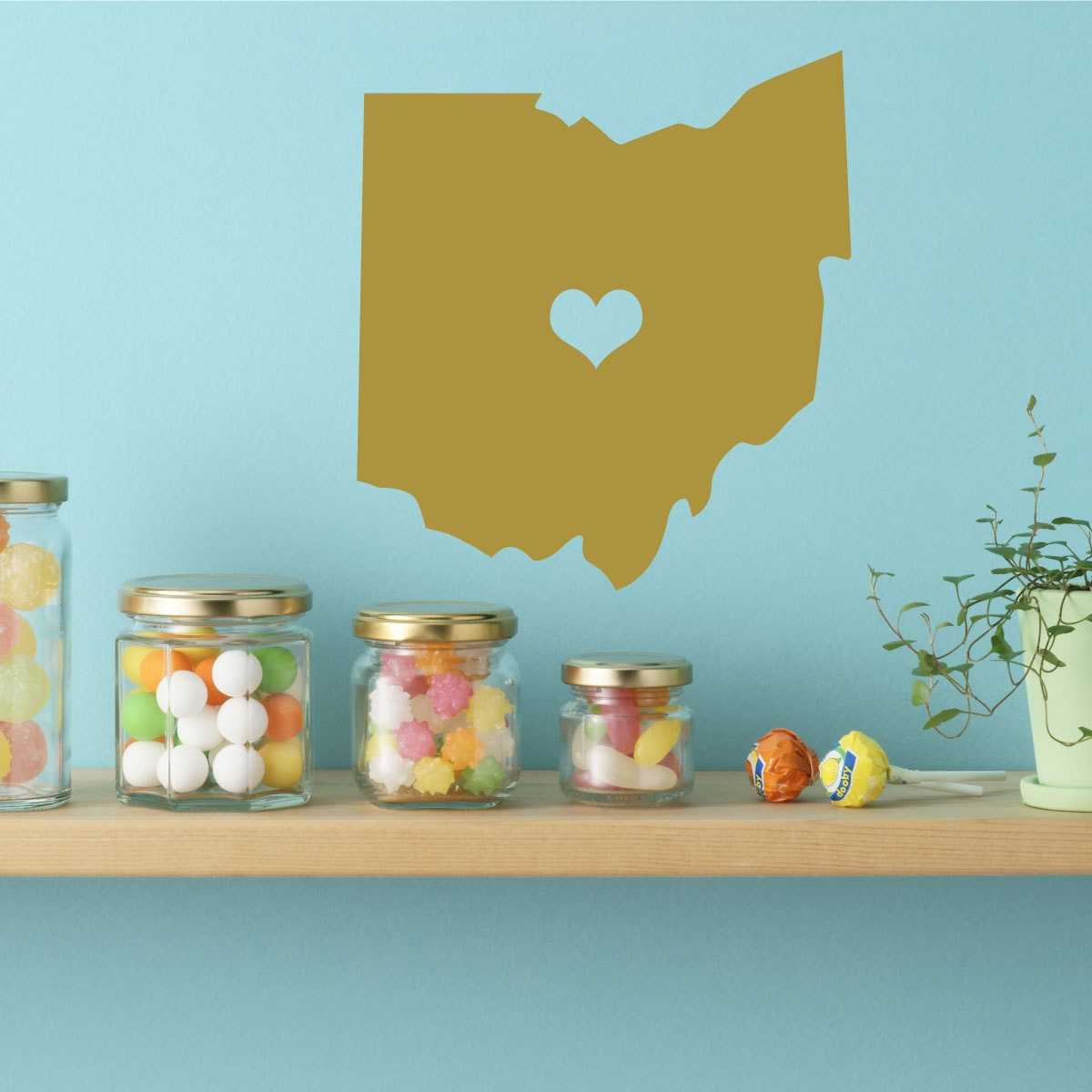 Ohio State Decal - Vinyl Wall Decor, Columbus Ohio, Buckeye State ...