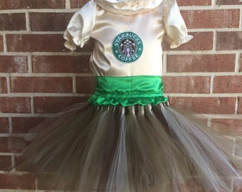 Starbucks tutu dress, Starbucks costume, Starbucks dress