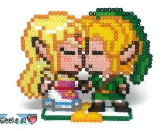 Legend of Zelda - Link and Zelda Kissing Gamer Wedding Centerpiece Decorations