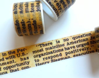 Old Newspaper washi tape