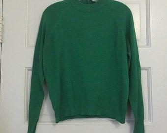 La Salle Green Knit Sweater