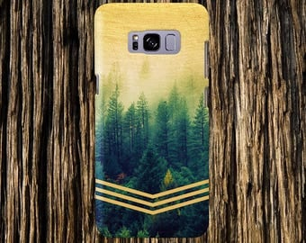 Golden Forest Chevrons Faded Wood Nature Case iPhone 7, iPhone 7 Plus, Tough iPhone Case, Galaxy s8, Samsung Galaxy Edge Case, CASE ESCAPE