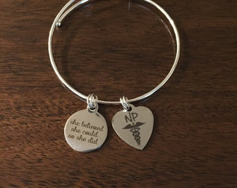 Nurse practitioner bracelet, nurse gift, nurse practitioner gift, nurse practitioner