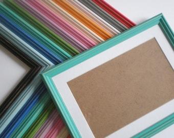"Photo frame 6x8"" White frame picture frame Wedding Frame distressed frame white wall decor solidwoodshop"