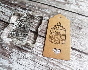 Birdcage stamp, Wedding birdcage stamps, birdcage decor, love birds wedding stamp