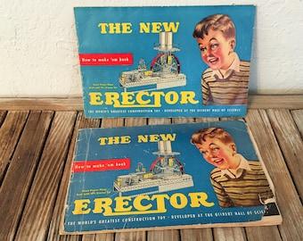 Vintage HandBook Titled The New Erector Erctor Set by A C Gilbert