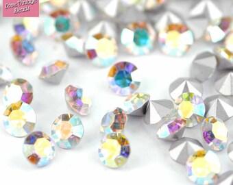 20x Swarovski Crystal AB Chatons 1100 Rhinestones SS28 6mm Dentelles