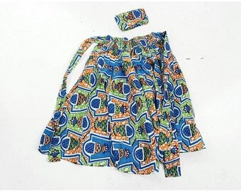 African Print Short Skirt