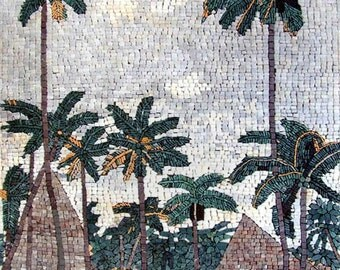 The Land Of Plam Trees Mosaic Art