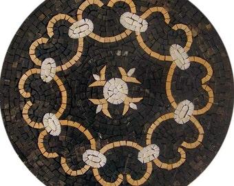 Round Geometric Mosaic - Infinity