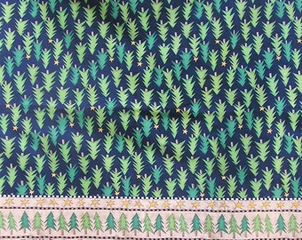Christmas fabric, fat quarter, Christmas tree fabric, deer fabric, stars fabric, Christmas border fabric, cotton fabric, quilting fabric