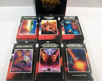 Vintage Star Trek Movie Collection VHS Tapes, Science Fiction Movies, Vintage Star Trek Films, Sci Fi VHS Tapes, Star Trek Movies, Trekkies