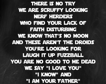 In This House We Do Star Wars *printable*