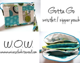 Gotta Go Wristlet / Pouch PDF Sewing Pattern