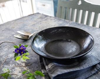 Ceramic Plate, Ceramic Serving Platter, Ceramic Fruit Bowl, Black Decor, Black Modern Ceramic, Decorative Plate, Wedding Gift, New Home Gift