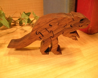 Microceratops Wooden Puzzle / Dinosaur Wooden Puzzle #376