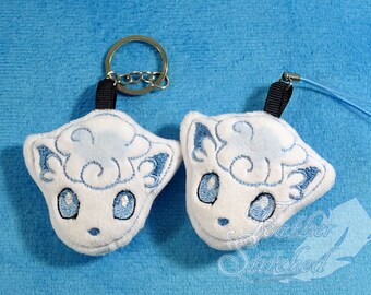 MADE TO ORDER- Alolan Vulpix Pokemon Soft Charms/ Screen Cleaners