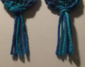 Dangel crocheted earrings