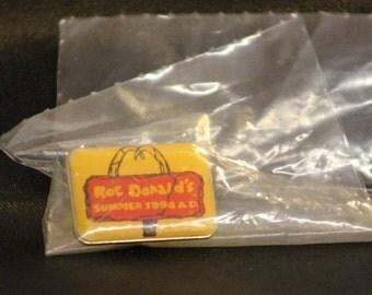 McDonalds Pin Roc Donald's Pin, McDonald's Tie Tac, 1994 Flintstones Promo Pin, Collectible McDonalds Pin vintage McDonalds Pin, Advertising