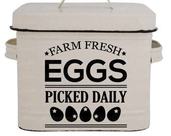 Farm Fresh Eggs | Cutting & Printable File | svg | eps | dxf | png | Home Decor | Stencil | Farmhouse | Vintage | Farmers Market