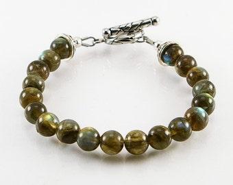 Labradorite men bracelet , men bracelet, bracelet, labradorite bracelet, men jewelry, men beaded bracelet, men gift idea, bead bracelet