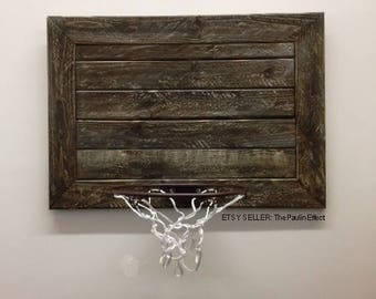 Rustic Pallet Basketball Goal Wall Decor-RUSTIC MINI PALLET-Great for Rustic Man Cave, Basement, Office or Child's Sports Room