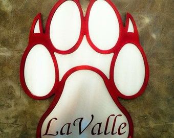 "18"" Metal Dog Paw"