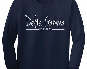 Delta Gamma Navy Jenna Sue Established Shirt