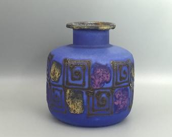 Ruscha Keramik 850  Vase 1970s Vintage Mid-Century Modern Pottery West Germany.  WGP.