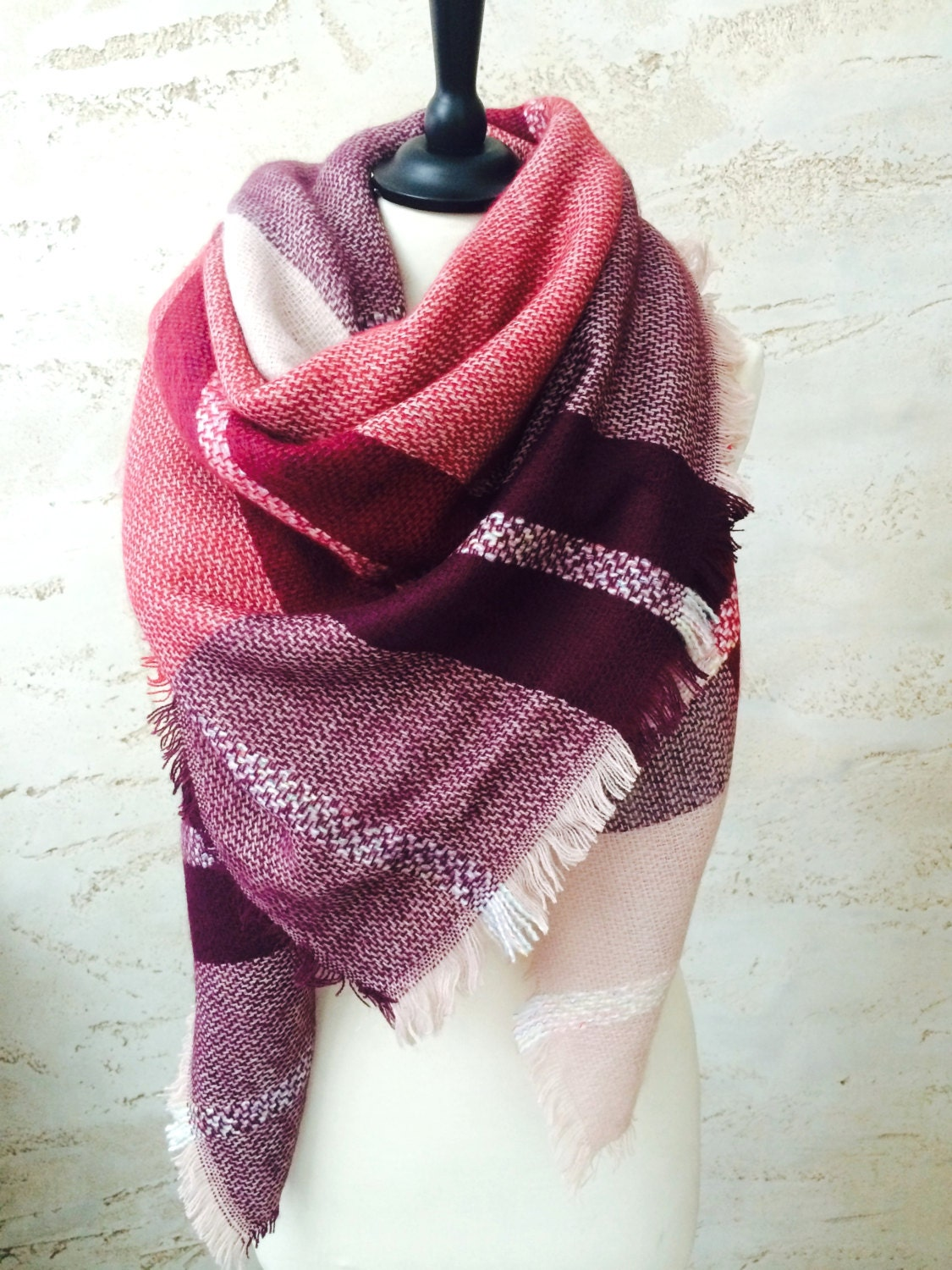 blanket scarf gift for chunky scarf winter scarf by