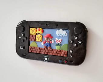 Custom Super Mario Wii U Fimo fridge magnet