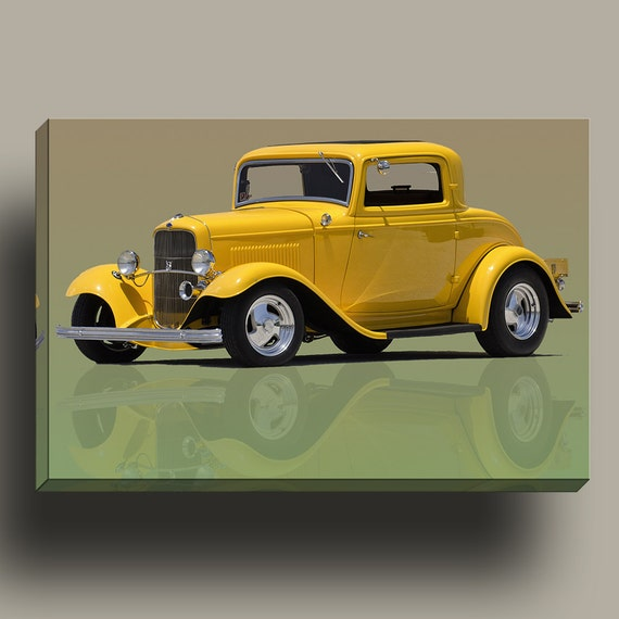 1932 Ford Coupe Street Rod | HP Professional Matte Canvas Mirror Wrapped