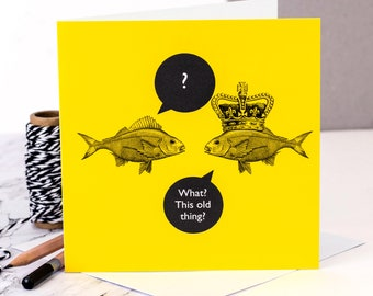 Funny Card 'What? This Old Thing?'; Funny Birthday Card; Funny Friendship Card; GC477