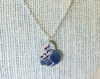 Custom Stamped Heart Necklace