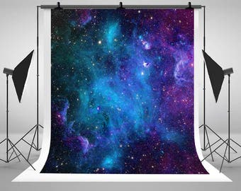Galaxy Stars Blue Sky Night Photography Backdrops Newborn Baby Photo Backgrounds for Children Birthday Party Studio Props
