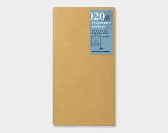 Traveler's Notebook 020 Kraft Paper Folder | Refill for Regular Size Traveler's Notebook | Midori Insert (14332006)