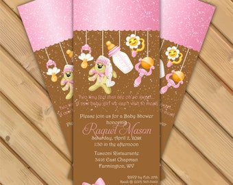 RAQUEL - Baby Shower Invitation; Baby Toys Invitation