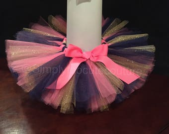 Navy Pink and Glitter Gold Tutu, Smash Cake Tutu, First Birthday Tutu, birthday outfit, birthday photo shoot, tutu,girls birthday outfit