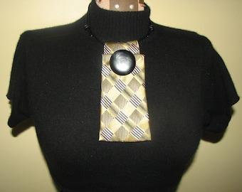 Necktie Necklace - Necktie - Silk Necktie - Leather