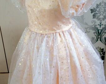 Beautiful wizard of oz, Glinda inspired dress, L-XL
