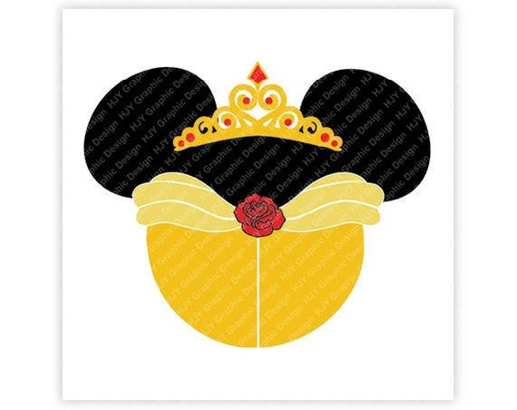 Disney Beauty Belle Princess Icon Minnie Mickey